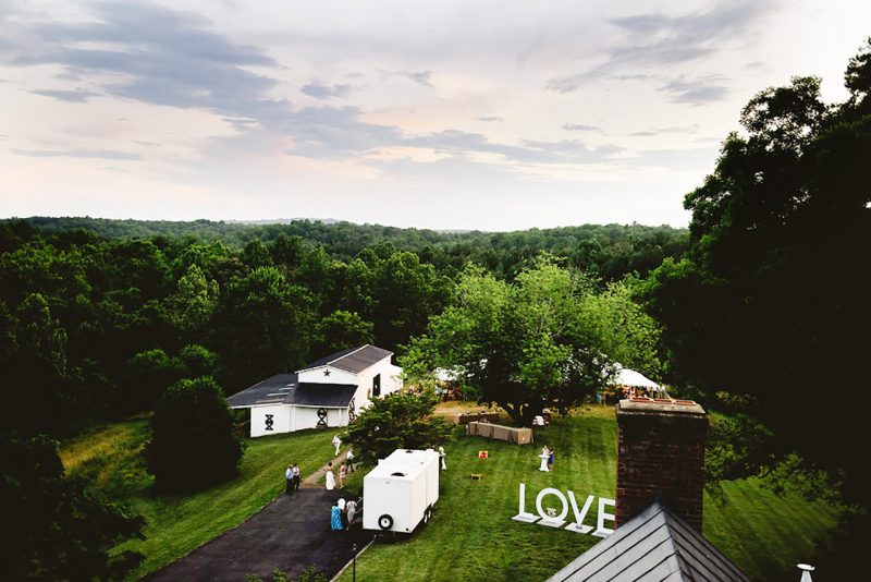 Wedding-Reception-Barn-Aerial-View