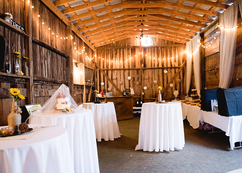 Guildford Farm Wedding Venue Rustic Barn Inside
